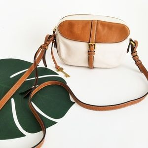 Fossil Cow Hide Leather Crossbody Purse